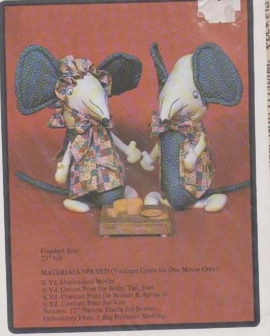 The Mouse Folks by The Patchwork Place Uncut