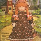 "Vogue 8336 18"" Early American Doll & Clothes Sewing Pattern with color face transfer"