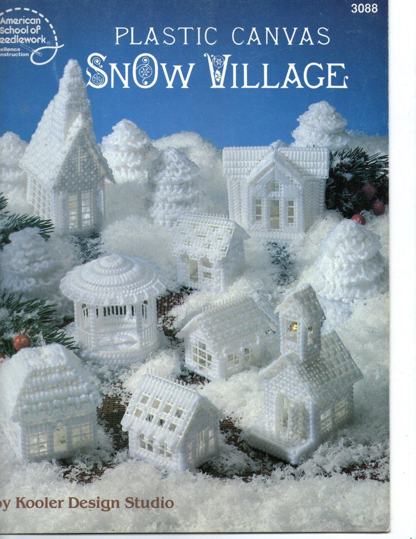Plastic Canvas Snow Village
