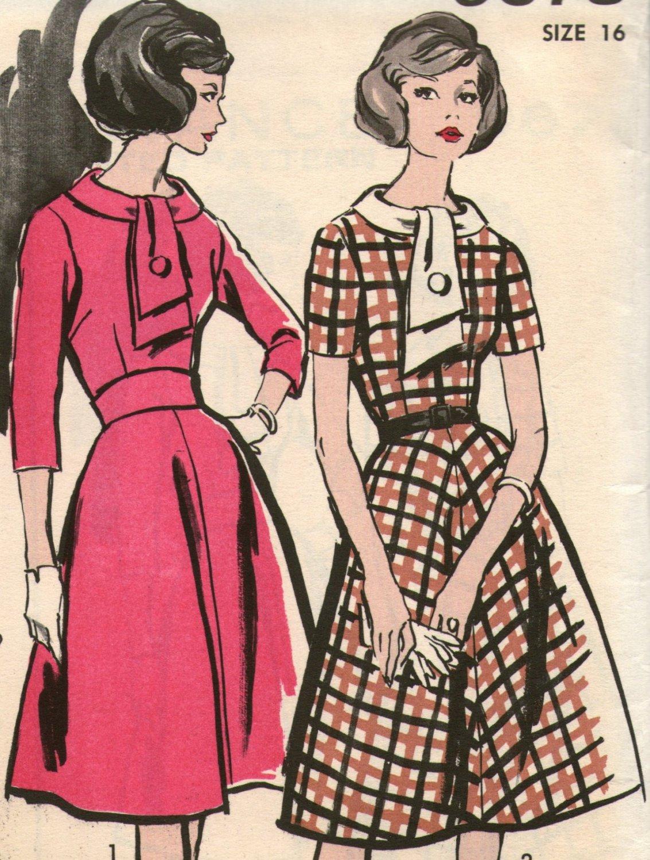 60's Bishop Method Misses Dress Sewing Pattern Size 16  Bust 36 Advance 9673 Uncut