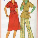 Half Size Pullover Dress or Top and Pants  Pattern Simplicity 7583 Size 16 1/2 & 18 1/2 - Uncut