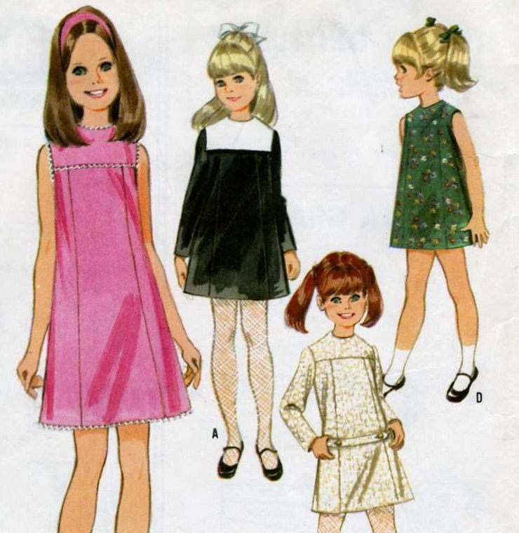 Girls Dress  - Jumper in 6 Versions Sewing  Pattern McCalls 9003  Size 6  Complete and neat