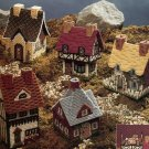Cozy Cottages in Plastic Canvas Five Potpourri Containers
