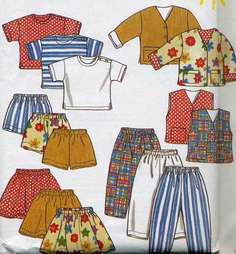 Childs Jacket, Vest, Top, Skirt, Shorts  Sewing Pattern New Look 6398  Size 2 3 4 5 6 7  - Uncut