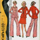 "McCall's  Unlined Shirt Jacket, Skirt & Pants Sewing Pattern no.4169 Size 8, Bust 31 1/2""   Uncut"