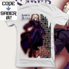 ANIME MANGA T-SHIRT TEES SABER ALTER FATE UNLIMITED CODES S M L XL 2XL