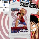 ANIME MANGA T-SHIRT MONKEY D LUFFY ONE PIECE S M L XL 2XL