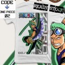 ANIME MANGA T-SHIRT TEES RORONOA ZORO ONE PIECE S M L XL 2XL