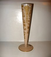 CAMBRIDGE GLASS ROSEPOINT CROWN TUSCAN BUD VASE