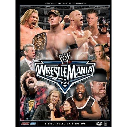 WWE - WrestleMania 22 New/Sealed 3 Disc DVD Set