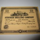 1964 Stocks & Bonds 3M Bookshelf Board Game Piece: single Stryker Drilling 50 Shares stock card