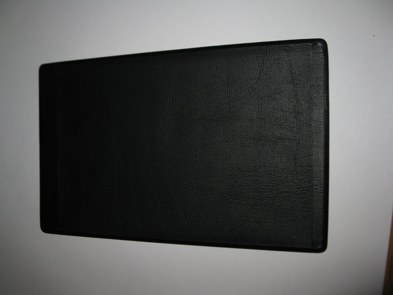 1986 Hollywood Squares Board Game Piece: Black Vinyl Game Card Holder
