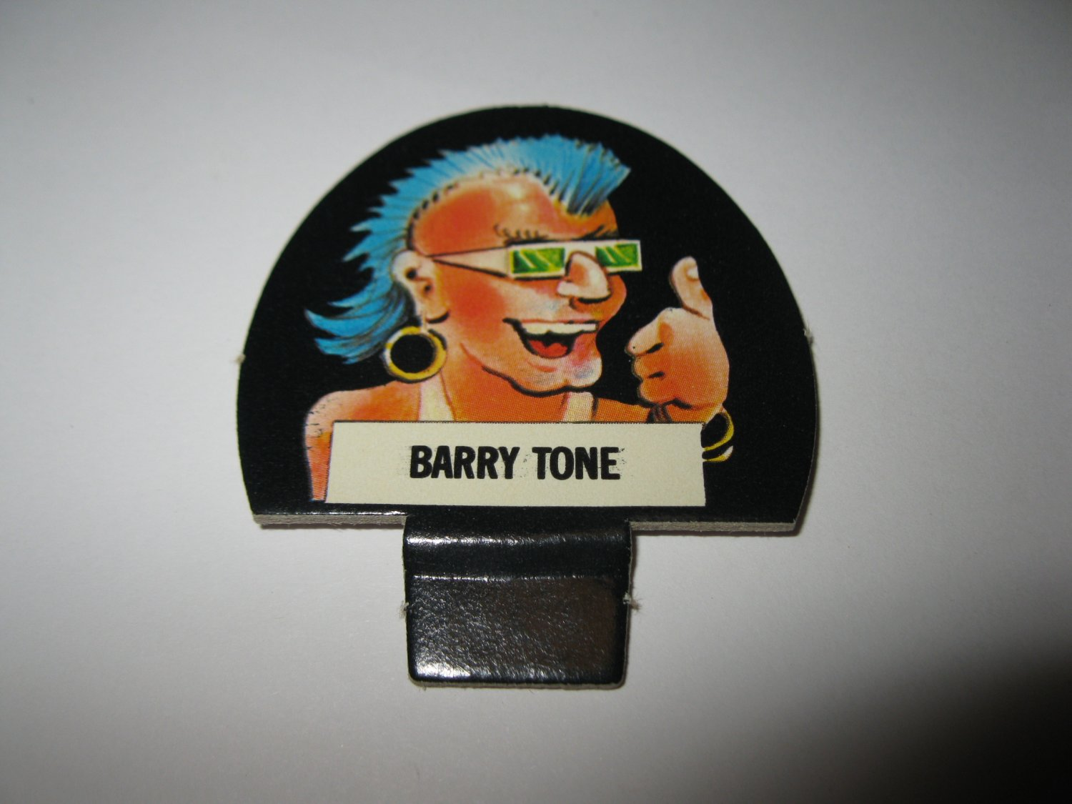1986 Hollywood Squares Board Game Piece: Barry Tone Player tab