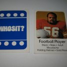 1976 Whosit? Board Game Piece: Football Player blue Character Card