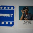 1976 Whosit? Board Game Piece: Censor blue Character Card
