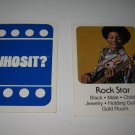 1976 Whosit? Board Game Piece: Rock Star blue Character Card