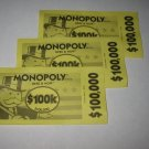 2006 Monopoly - Here & Now Board Game Piece: stack of money- (3) $100,000 Bills