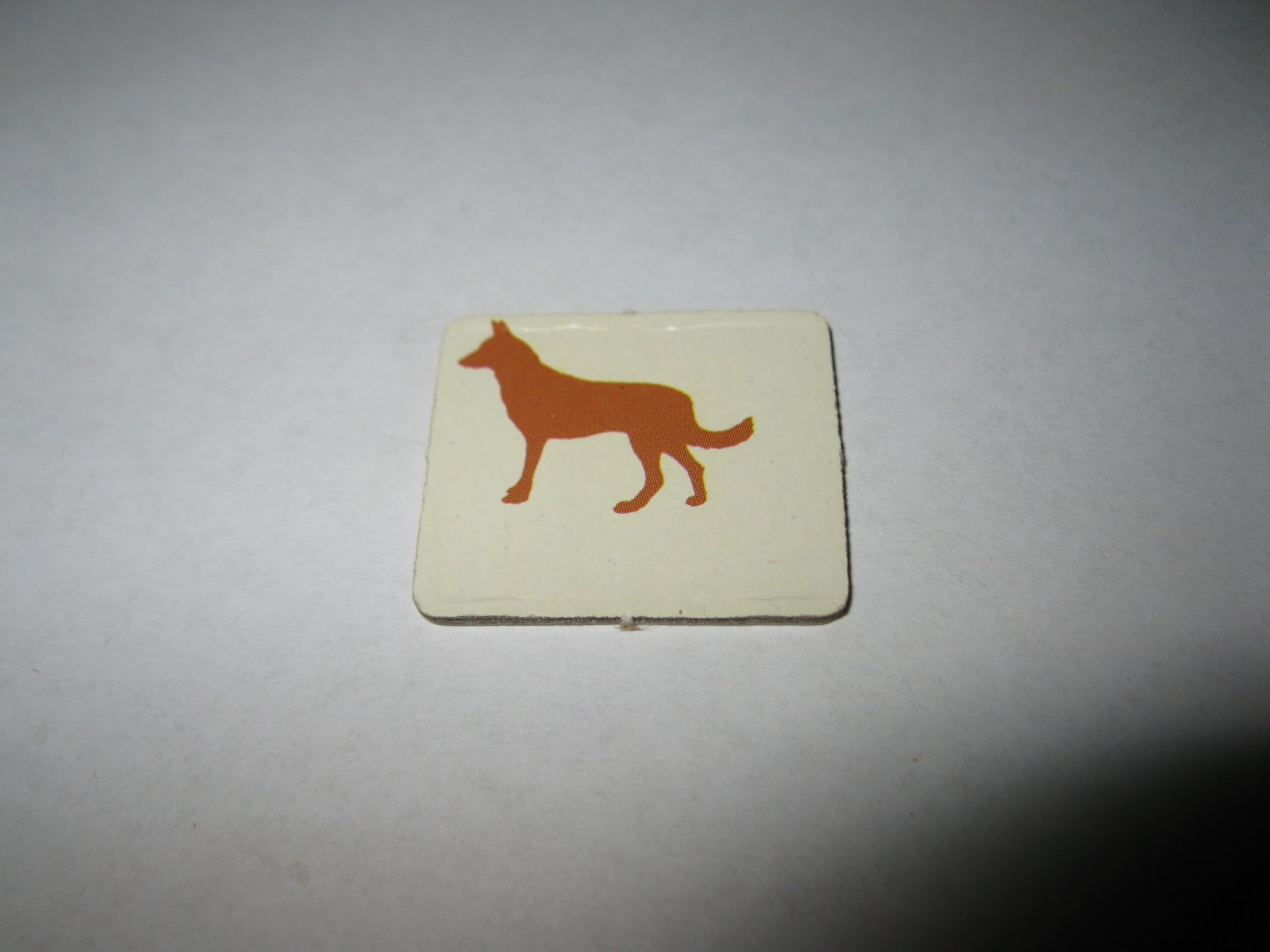 1983 Scavenger Hunt Board Game Piece: single square Dog Tab