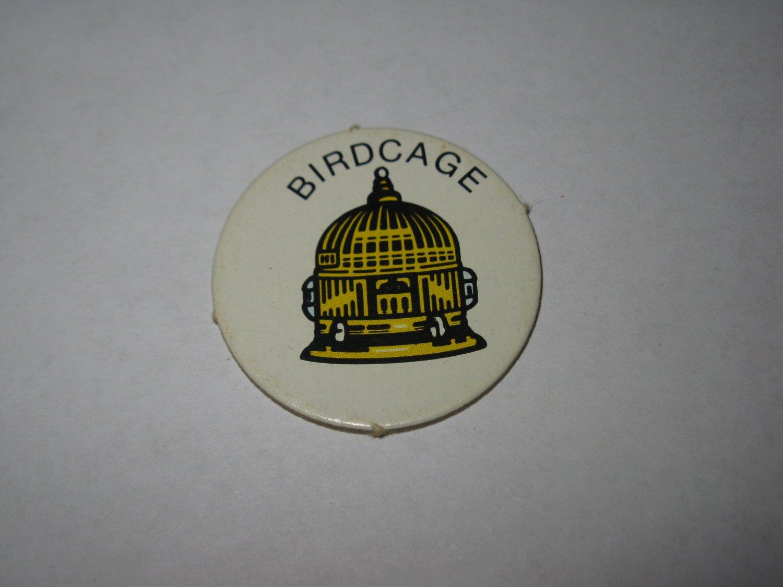 1983 Scavenger Hunt Board Game Piece: Birdcage Circle Tab