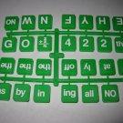 1986 Scrabble Rebus Board Game Piece: full unused Green Tile Set