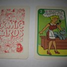 1972 Comic Card Board Game Piece: Blondie Cartoon Card #2
