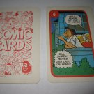 1972 Comic Card Board Game Piece: Hi and Lois Cartoon Card #6