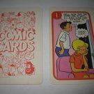 1972 Comic Card Board Game Piece: Hi and Lois Cartoon Card #1