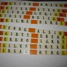 1978 Punchline Board Game Piece: complete Orange Slider Tab set