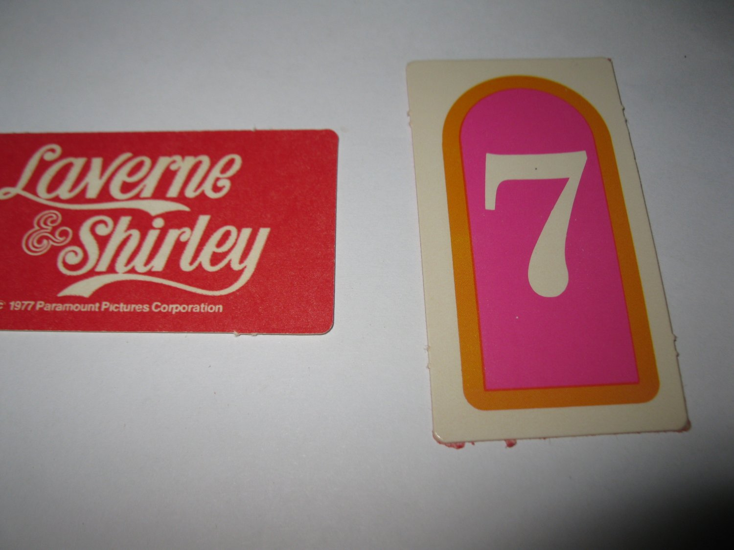 1977 Laverne & Shirley Board Game Piece: single Game Card #7