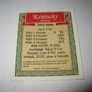 1995 Monopoly 60th Ann. Board Game Piece: Kentucky Avenue Property Deed