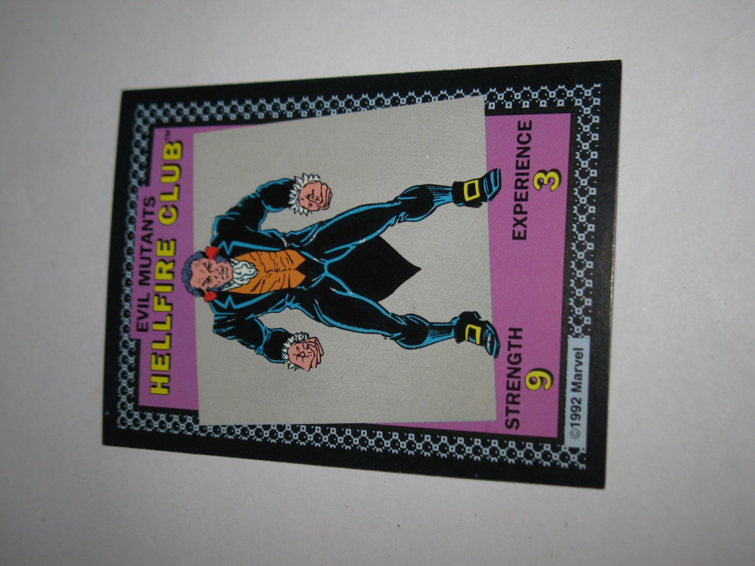 1992 Uncanny X-Men Alert! Board Game Piece: Hellfire Club Evil Mutants Card
