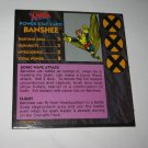 1992 Uncanny X-Men Alert! Board Game Piece: Banshee Player Stat Card
