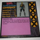 1992 Uncanny X-Men Alert! Board Game Piece: Longshot Player Stat Card
