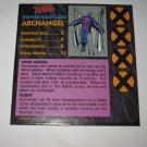 1992 Uncanny X-Men Alert! Board Game Piece: Archangel Player Stat Card