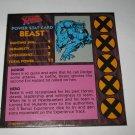 1992 Uncanny X-Men Alert! Board Game Piece: Beast Player Stat Card