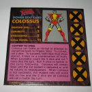 1992 Uncanny X-Men Alert! Board Game Piece: Colossus Player Stat Card