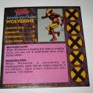 1992 Uncanny X-Men Alert! Board Game Piece: Wolverine Player Stat Card