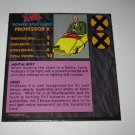 1992 Uncanny X-Men Alert! Board Game Piece: Professor X Player Stat Card