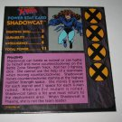1992 Uncanny X-Men Alert! Board Game Piece: Shadowcat Player Stat Card