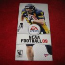 NCAA Football 09: Playstation Portable PSP Video Game Instruction Booklet