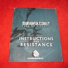 Turning Point Fall Of Liberty : Playstation 3 PS3 Video Game Instruction Booklet