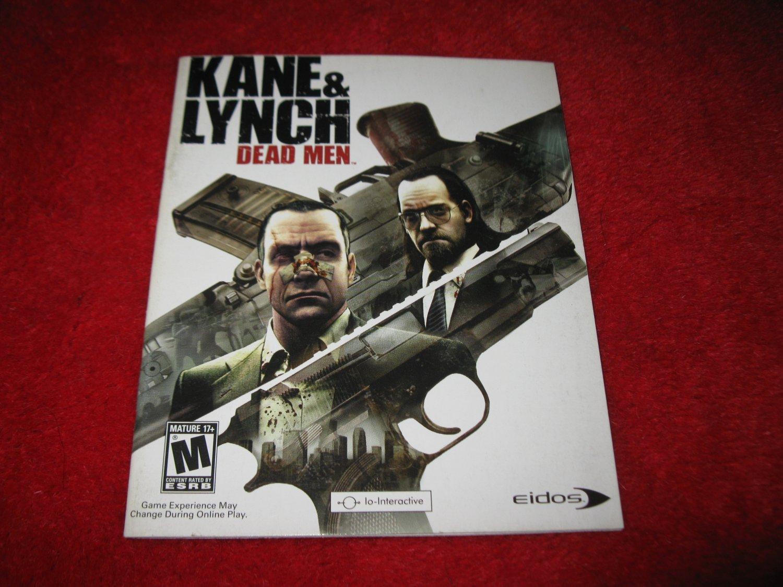 Kane & Lynch Dead Men : Playstation 3 PS3 Video Game Instruction Booklet