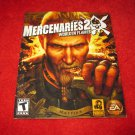 Mercenaries 2 World in Flames : Playstation 3 PS3 Video Game Instruction Booklet