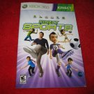 Kinect Sports: Xbox 360 Video Game Instruction Booklet