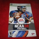 NCAA Football 08 : Xbox 360 Video Game Instruction Booklet