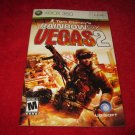 Rainbow Six Vegas 2 : Xbox 360 Video Game Instruction Booklet