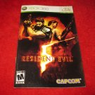Resident Evil 5 : Xbox 360 Video Game Instruction Booklet
