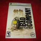 Battlefield Bad Company : Xbox 360 Video Game Instruction Booklet