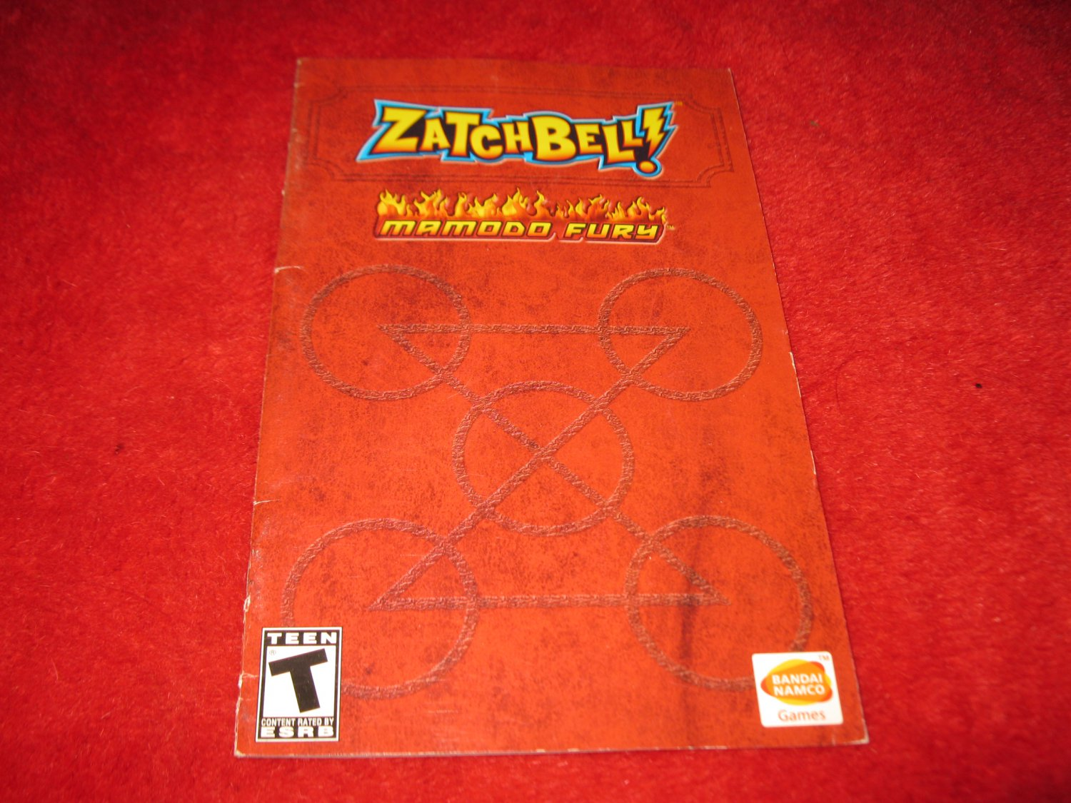 Zatchbell! Mamodo Fury  : Playstation 2 PS2 Video Game Instruction Booklet