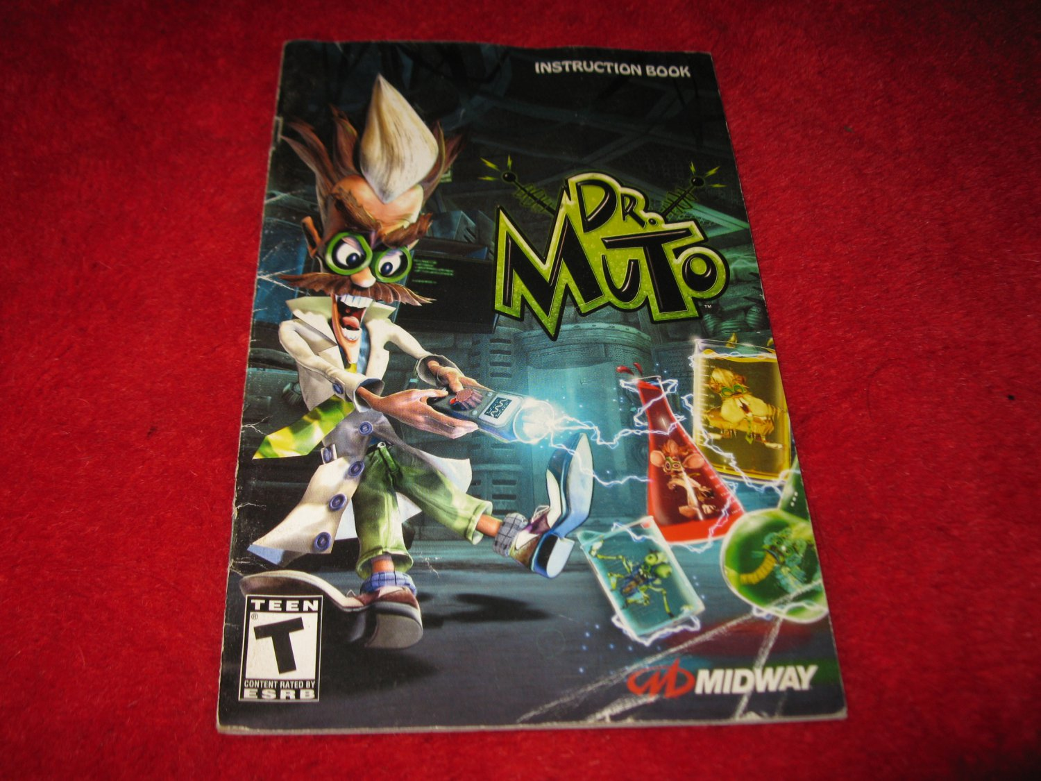 Dr. Muto : Playstation 2 PS2 Video Game Instruction Booklet